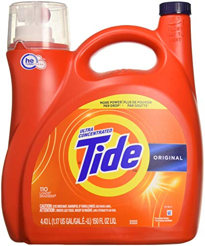 Tide 689358585867 Ultra Concentrate High Efficiency Liquid Laundry Detergent, Original-110 Loads