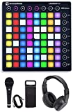 Novation LAUNCHPAD S MK2 MKII MIDI USB RGB Controller Pad+Mic+Cable+Headphones Bundle