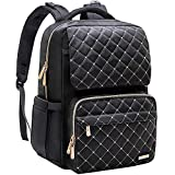 Diaper Bag Backpack, Bamomby Multi-Function Waterproof Travel Backpack Nappy Bags for Mom,Dad with Insulated Pockets, Changing Pad, Stroller Straps for Boys,Girls-Black