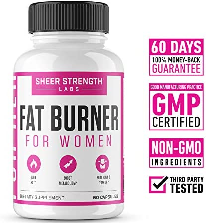 Thermogenic Fat Burner for Women - Triple-Strength Metabolism Booster, Appetite Suppressant & Carb Blocker - Natural Ingredients Support Healthy Weight Loss - 60 Diet Pills - Sheer Strength 4