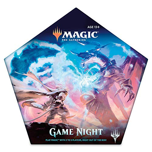 Magic: the Gathering Magic Game Night Card Game for 2–5 Players | 5 Decks | 5 Dice | Accessories