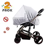 [2 Pack] Baby Nets for Strollers, Carriers, Car Seats, Cradles, Fits Most PacknPlays, Cribs, Bassinets & Playpens, Soft Durable Shield Netting
