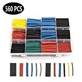 560PCS Heat Shrink Tubing kit, ELECTRAPICK Insulated Electrical Wire Cable Wrap Heat Shrink Tube kit with Box 11 Sizes (Shrink Ratio 2:1)
