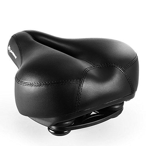 INBIKE Most Comfortable Bike Seat, Memory Foam Padded Wide Bicycle Saddle for Men Women Black
