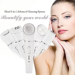 Facial Advanced Cleansing System 5-in-1 Facial Brush+Massager+Epilator+Lady Shaver+Callus Remover, Flend Perfect Skin Care Tool kit  Image 5