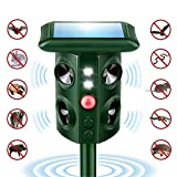 Mole Repellent, Solar Powered Waterproof Animal Repellent with Ultrasonic Wave, Humane Rodent Repeller for Gopher, Vole, Bird, Squirrel, Rabbits etc. (4 Speakers)