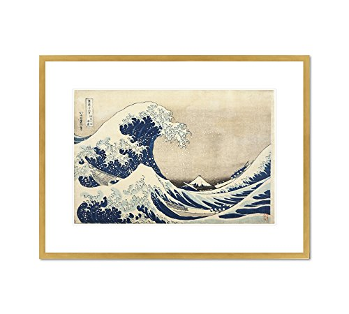 The Great Wave off Kanagawa by Katsushika Hokusai, c. 1830-31. Framed Art Print