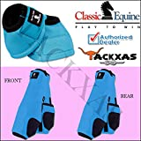 Product review for SMALL TURQUOISE CLASSIC EQUINE FRONT REAR LEGACY SPORTS HORSE NO TURN BELL BOOTS