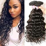 Beauty Forever 10A grade Brazilian Natural Wave Hair 3 Bundles Unprocessed Virgin Human Hair Extensions Weave Natural Color (14 16 18)