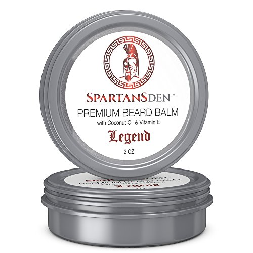 SALE | Spartans Den Premium Beard Balm | Beard Conditioner For Growth, Soften, Itch, Grooming & Frizz | Coconut Oil & Vitamin E Infused |'Legend' 2oz