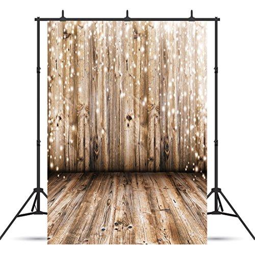 SJOLOON 5x7ft Rustic Wood Vinyl Photography Backdrop Nostalgia Wood Floor Photo Backdrop Baby Newborn Photo Studio Props JLT10359