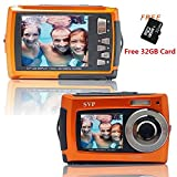 SVP Aqua 5800 Orange (with Micro 32GB) 18 MP Dual Screen Waterproof Digital Camera