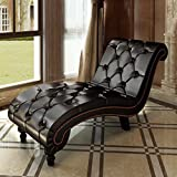 Product review for Chesterfield Chaise Lounge Patio Sofa Daybed Tufted Furniture Button Contemporary Brown Faux Leather