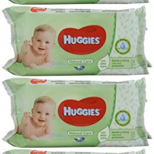 Huggies Baby Wipes Natural Care with Aloe Vera, 56 Count (Pack of 4) 51cC6pLOwfL