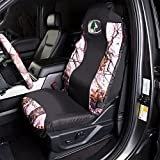Mossy Oak Camo Seat Cover | Universal Fit | Break-up Pink | Single, Break-Up Pink, Single