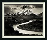 Framed Art Print, 'The Tetons and the Snake River, Grand Teton National Park, Wyoming, 1942' by Ansel Adams: Outer Size 26 x 22'