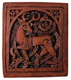 Dryad Design Celtic Stag Plaque Wood Finish