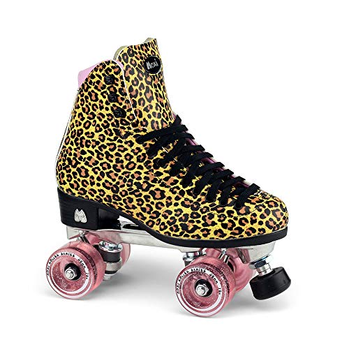 Moxi Skates - Ivy Jungle - Fashionable Womens Roller Skates | Leopard | Size 5