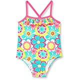 Op Baby Girl Ruffle Trim One-Piece Swimsuit (18 months, Daisy Doodle)