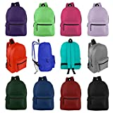 Wholesale 17 Inch Backpacks for Students & Adults - Bulk Case of 24 Bookbags - 12 Assorted Colors