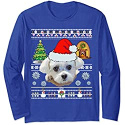 Maltese Dog Mom Shirt Christmas Love Gifts Sweater