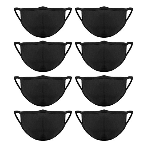 Mouth Cotton Anti-dust Pieces 8 Black With Women Masks Madholly Nose Mask Bridge Face For Men Wire And