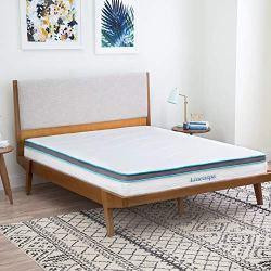 Linenspa 8 Inch Memory Foam and Innerspring Hybrid Mattress – Medium-Firm Feel – Twin