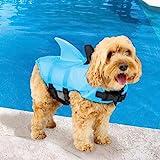 SwimWays Sea Squirts Doggie Jacket Blue Medium