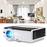 Video Projectors 1080p 4200 Lumens, HD Projector LCD LED 200' Widescreen Multimedia WXGA Home Theater Projector Work with Laptop TV Stick Xbox Bluray Player DVD Wii PS3 PS4 Outdoor Movie Proyector