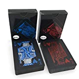 Merytes 2 Deck of Waterproof Poker Cards and Playing Cards with Flexible Plastic PVC and Classic Trick Cards