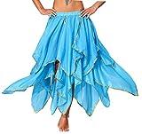 Belly Dance Skirt Costume for Women Genie Side Slit Bellydancer