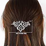 Viking Celtic Hair Clips Hairpin-Viking Hair Sticks Ladies Hair Accessories Triangle Clips for Long Hair Slide Pin Irish Antique Silver Hairstick Celtic Knot Viking Jewelry Hair Clip Men Gift (C-C)