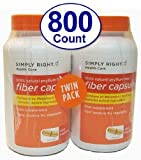 Member's Mark Therapy for Regularity/Fiber Supplement, 800 Count Fiber Capsules (Compare to the Active Ingredient in Metamucil)
