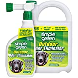 SIMPLE GREEN Outdoor Odor Eliminator for Pets, Dogs, Ideal for Artificial Lawns & Patio (32 Ounce Hose End Sprayer and 1 Gallon Refill)