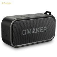 Omaker M6 Portable Bluetooth Speakers for Outdoor, Waterproof Wireless Stereo with Dual-Driver, Crystal Clear Sound and Premium Bass (TWS & 12-Hour Playtime & Built-in Mic & 66-foot Bluetooth Range)