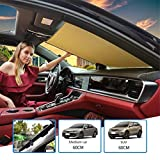 GFYWZ Car Sun Shade Front Windshield Keeping Your Vehicle Cool, Sun Shade Cover Windshield Ice Cover Windshield Protector UV Heat and Sun Reflector,A,60cm