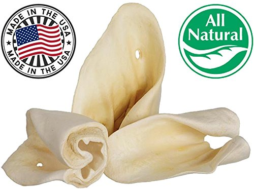 Pawstruck Jumbo Cow Ears for Dogs | Made in USA & Natural | Healthy Bulk Dental Dog Treats | Single Ingredient Chew | Fresh,Tasty Beef | Low Calorie, Digestible, Safe 1