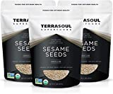 Terrasoul Superfoods Raw Organic Sesame Seeds (Unhulled), 6 Pounds