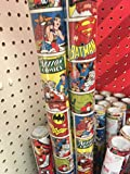 DC COMICS ORIGINALS ~ Christmas Wrapping Paper 40 Sq. Ft. ~ Superman, Batman, Green Lantern, Flash