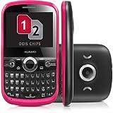 HUAWEI G6620 Unlocked GSM Phone with Dual SIM, 1.3 MP Camera, QWERTY Keyboard, Bluetooth, FM Radio and microSD Slot - Pink