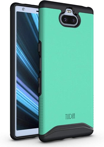 Sony Xperia 10 Case, TUDIA [Merge Series] Dual Layer Heavy Duty Extreme Drop Protection/Rugged Phone Case for Sony Xperia 10 [NOT Compatible with Xperia 10 Plus] (Mint)