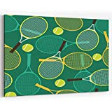Actorstion Tennis Rackets and Balls 125405 for Modern Home Decor Stretched and Framed Ready to Hang,36' x 48'