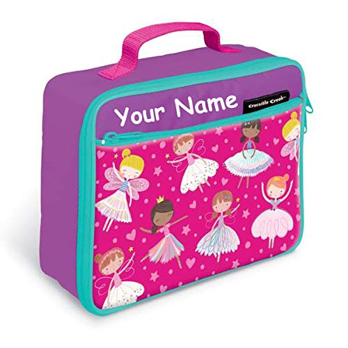 Personalized Crocodile Creek Kids Fairy Princess Dancers and Dreams Lunchbox Lunch Bag Tote