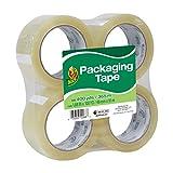 Duck Tape Brand Standard Packaging Tape Refill, 4 Rolls, 1.88 Inch x 100 Yards (240593)