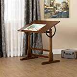 Studio Designs 36 X 24-Inch Vintage Drafting Table, Rustic Oak