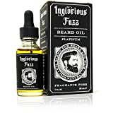 Inglorious Fuzz Beard Oil By Inglorious Fuzz - Beard Growth - Beard Hair Skin Conditioner - Fragrance Free - Better Beards for Better Men