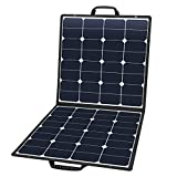 SUAOKI 100W 18V 12V Solar Panel Charger Cell Portable Foldable with Dual Output (5V/2A USB + 18V/5A DC), 10 Laptop Connectors for Smartphones, Laptops, Car Batteries, Generator, Power Source