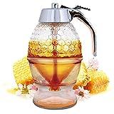 Hunnibi Glass Honey Dispenser, Syrup and Sugar Jar
