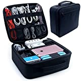 Electronic Organizers,Electronics Accessories Cases for Accessories Cable,Cord Gadget,Power Bank,Camera,Camera Lenses (Black)
