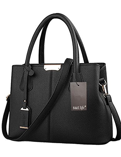 Bolsa grande elegante de cuero negro para damahttps://amzn.to/2Es5TCC